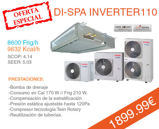 conductos toshiba di spa inverter