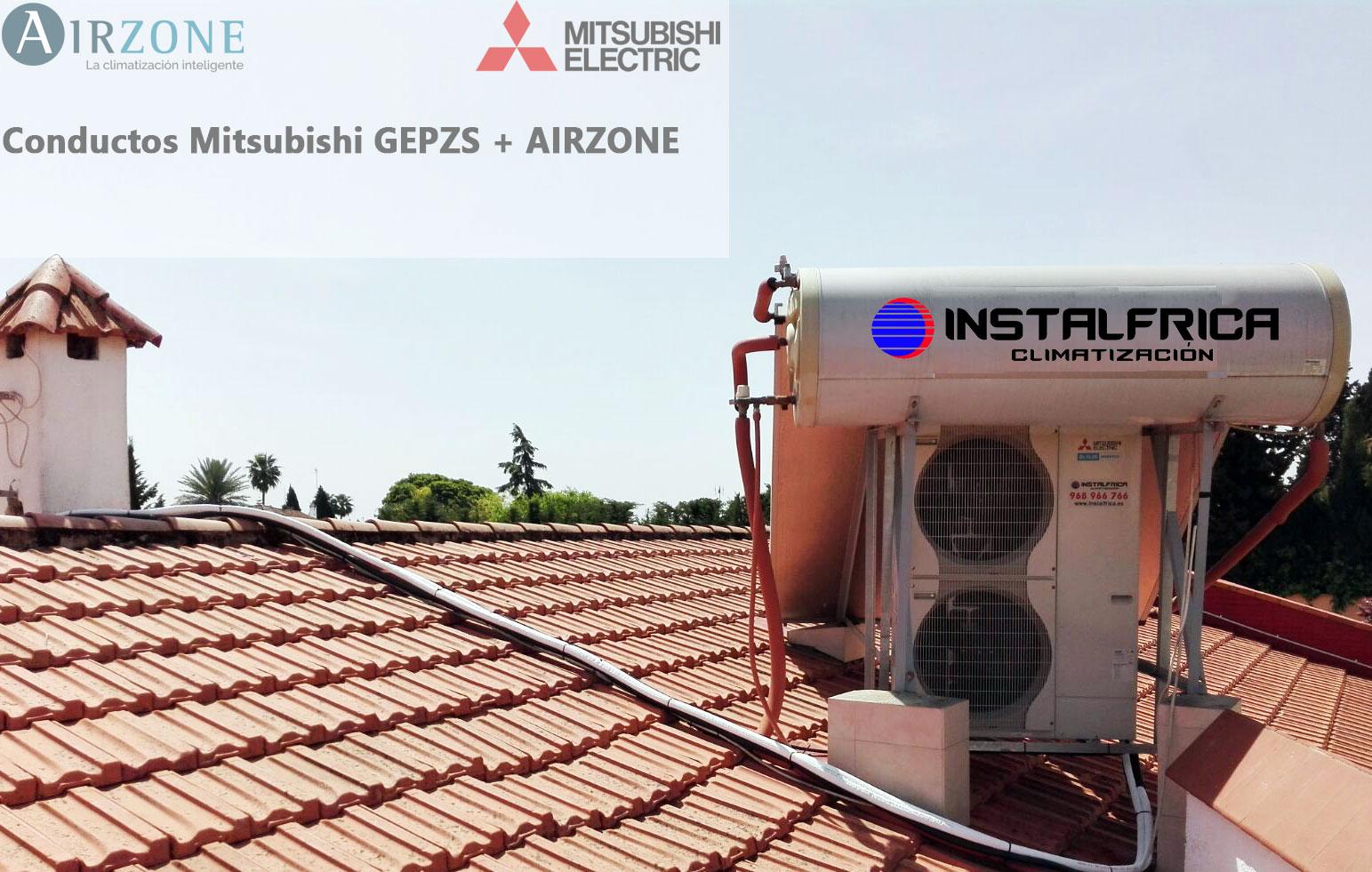 Instalaci n conductos mitsubishi gpezs 125vja control for Instalacion aire acondicionado sevilla