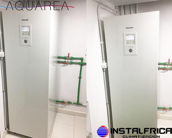 fotos instalacion aerotermia panasonic aquarea