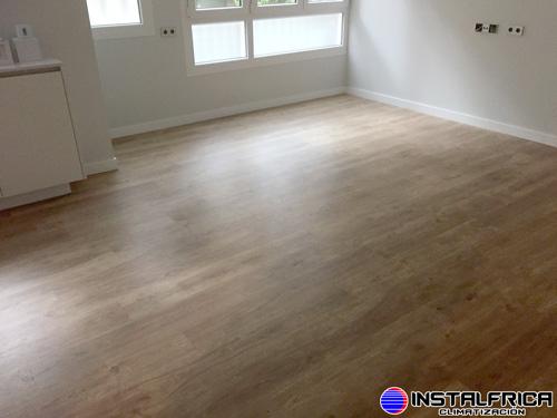 suelo radiante terminado