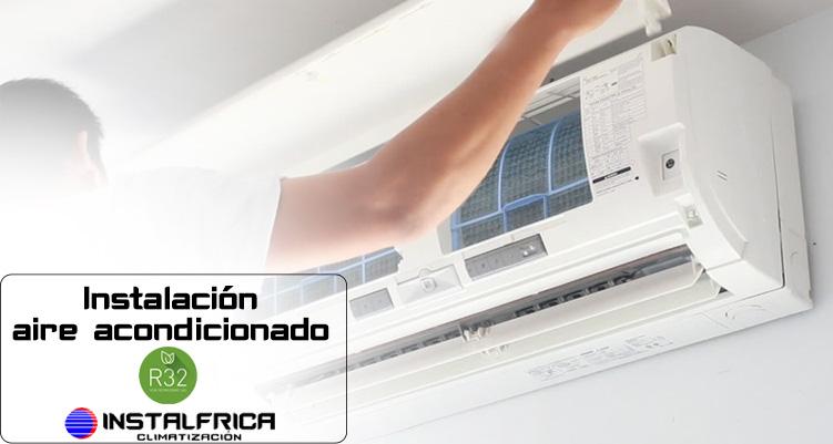 Instalación aire acondicionado con Gas R32